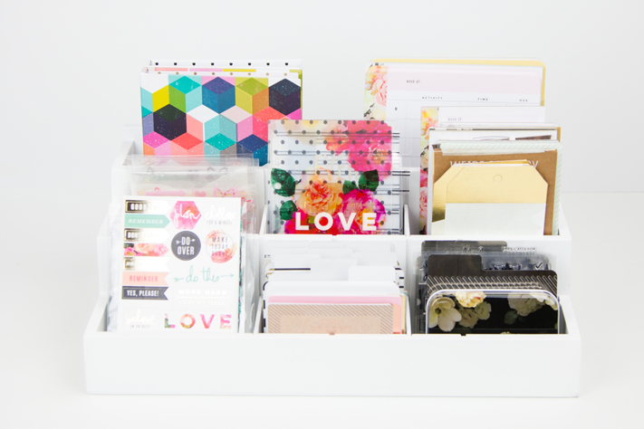 How to organize your planner supplies by @createoften