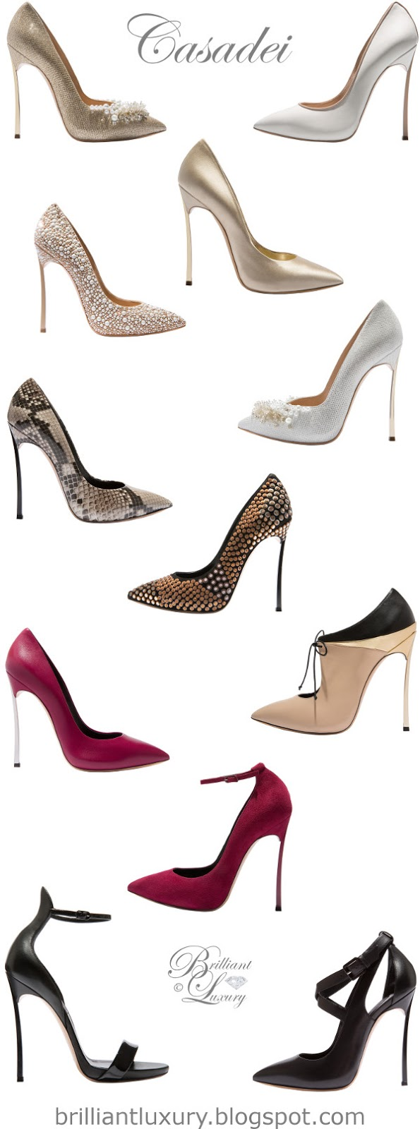 Brilliant Luxury ♦ Fall in ~ Casadei Blade pumps