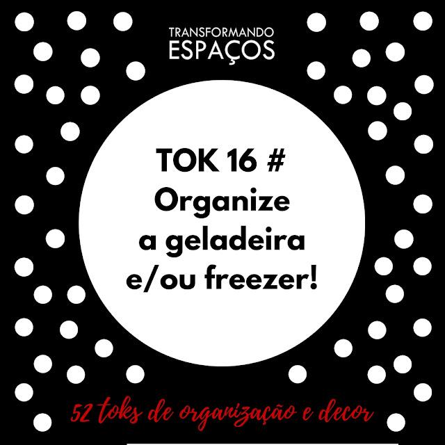 Tok 16 - Organize a geladeira e/ou o freezer! | Desafio 52 toks de organização e deco