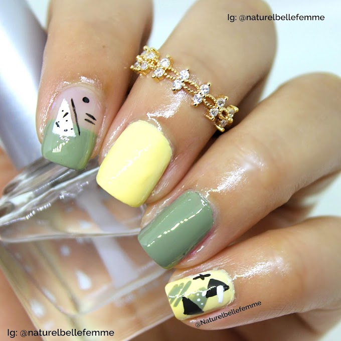 Abstract shapes nails