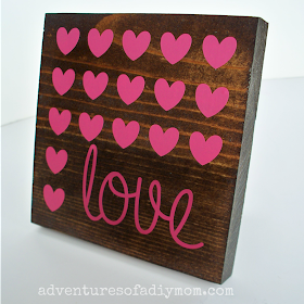 Wood and Vinyl Valentine's Art