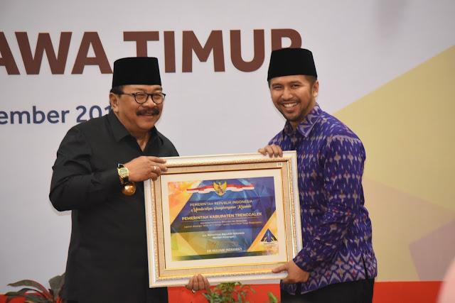 Buah Kerja Keras Raih WTP, Kabupaten Trenggalek Dapatkan Penghargaan Dari Menteri Keuangan