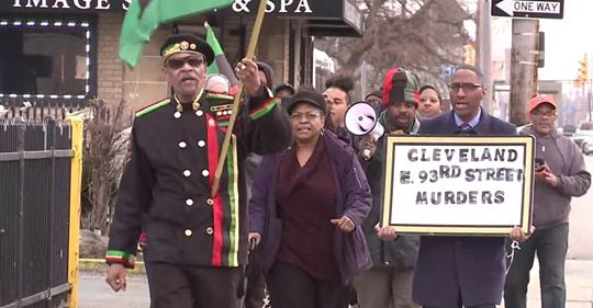 Cleveland Fox 8 News live coverage of vigil and march as to the