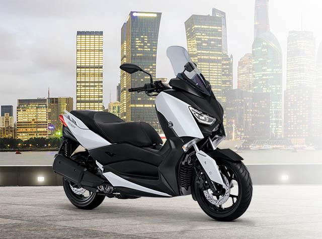 Yamaha XMAX warna elegant white