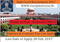 High Court Recruitment 2017–Library Assistant Officer