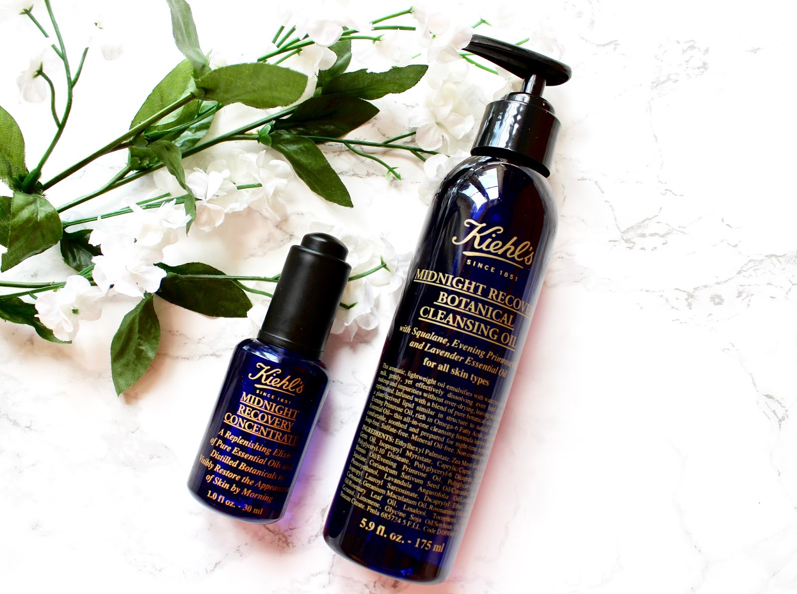Kiehl's Midnight Recovery Concentrate and Oil
