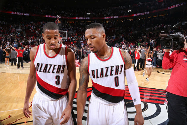 C.J. McCollum et Damian Lillard (Portland Trail Blazers)