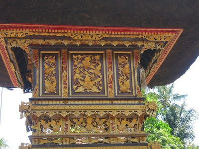 decorated pillar,Bali