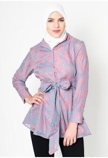 Contoh Baju Kantor Batik Muslim Remaja