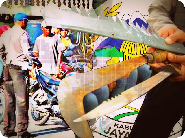 Polres Jayawijaya dan Dewan Adat Balim Razia Sajam