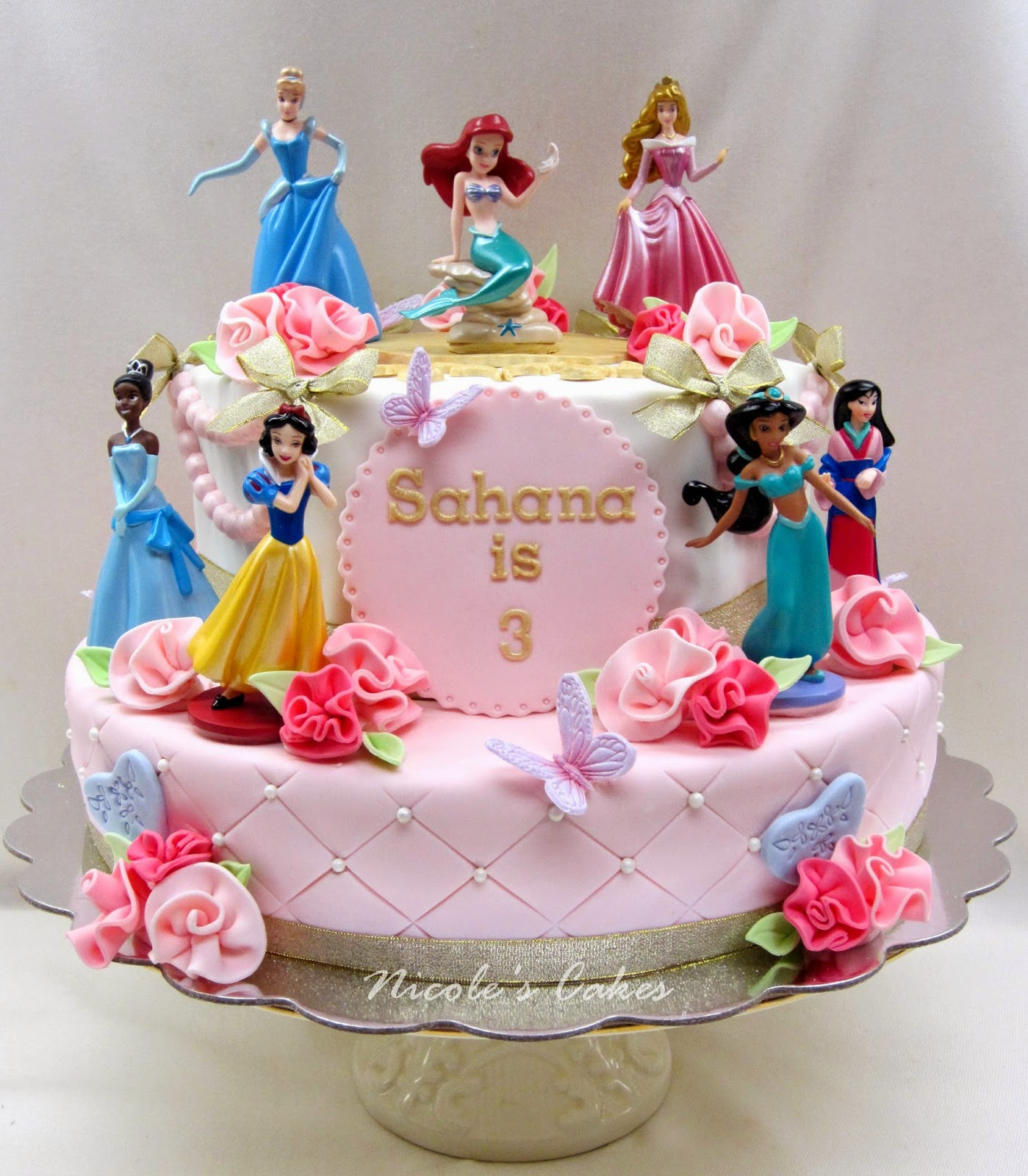 Gorgeous Pink Princess Cake