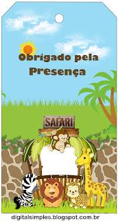 Para marcapáginas de Safari Bebés
