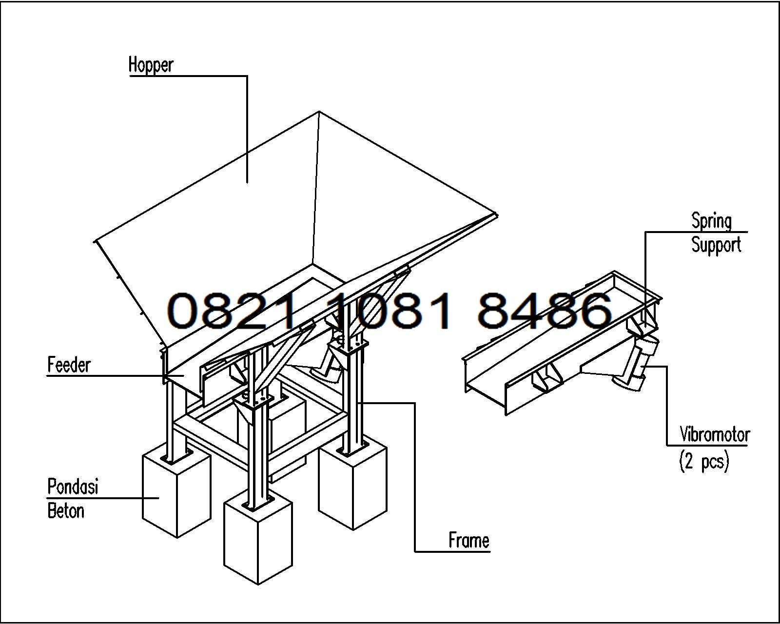 Jual vibrating feeder foot mounted