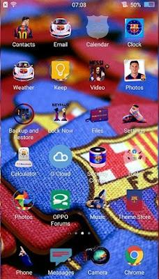 Kumpulan Tema Oppo Terbaik Semua Tipe - Barcelona FC