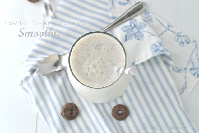 low fat cookies and cream smoothie