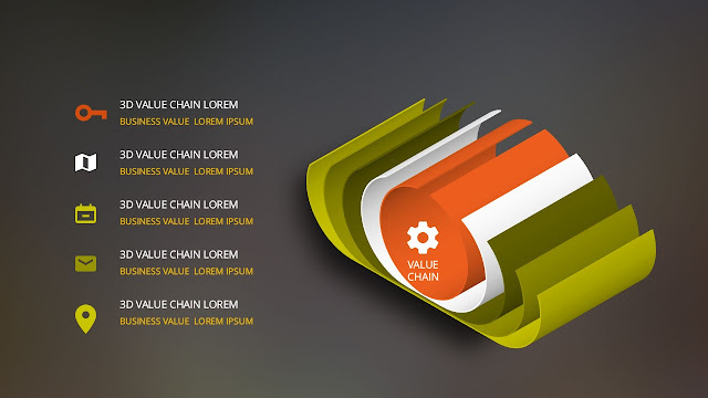 Free PowerPoint templates with 3D Curling Page Elements Slide 1