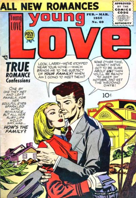 Kirby Young Love romance comics