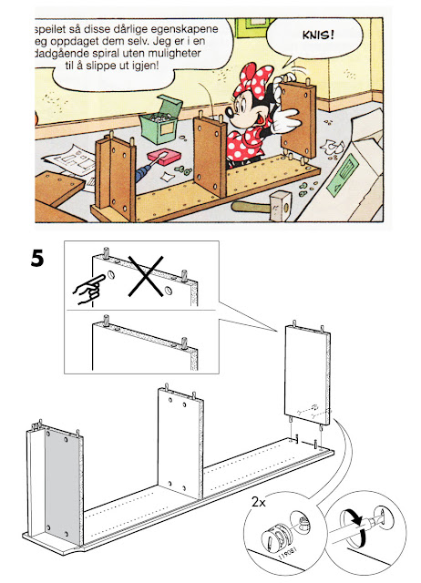 Minnie's BILLY bookshelf assembly instruction