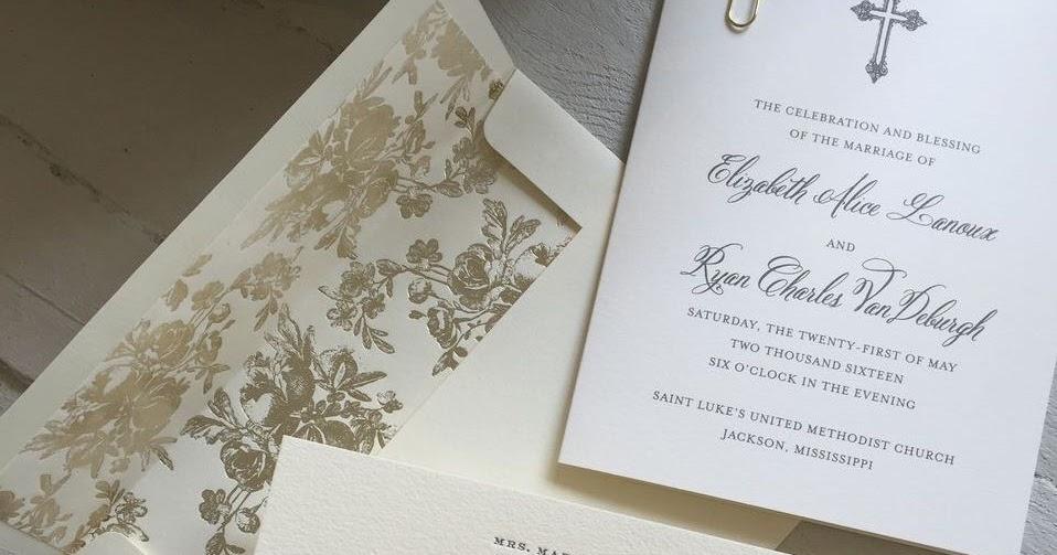 Wedding Invitations Jackson Ms: Elizabeth Lanoux And Ryan Vandeburgh Wedding Invitations