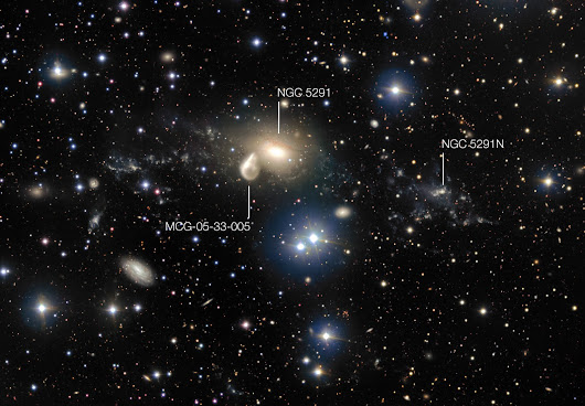 ESO Studying Mysterious Dwarf Galaxy Formed After Cosmic Collision
