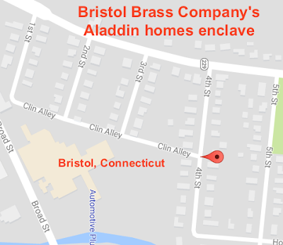 Bristol Brass Company Aladdin houses Bristol CT neighborhood