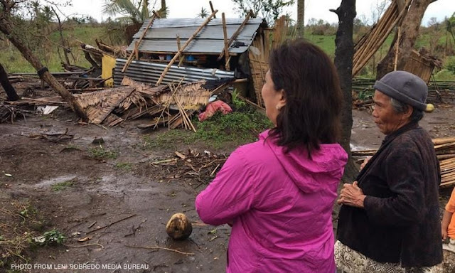 Vp Leni Robredo Reacts on the Government's Relief Operation in Typhoon Nina-Hit Areas: 'Mabagal iyong galaw.'