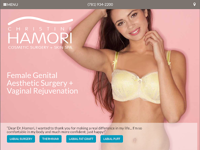 labiaplasty website screenshot