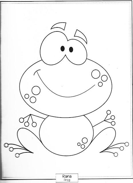 Desenho de Sapo para pintar