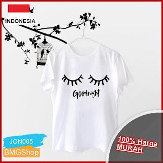 JON05 Kaos Wanita Cute Mata Good Night BMGShop