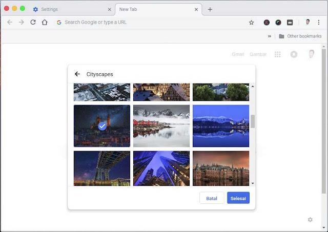 Merubah Tema Google Chrome