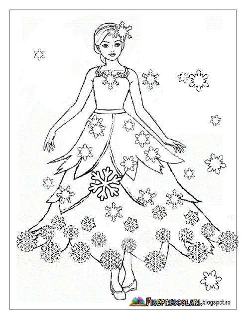 Planse De Colorat Cu Zana Iarna Imagini Cu Zana Iarna