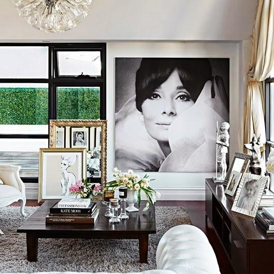 Decoración. Un apartamento de cine. Vivir entre Hollywood y París. Salón, Living, La Musa