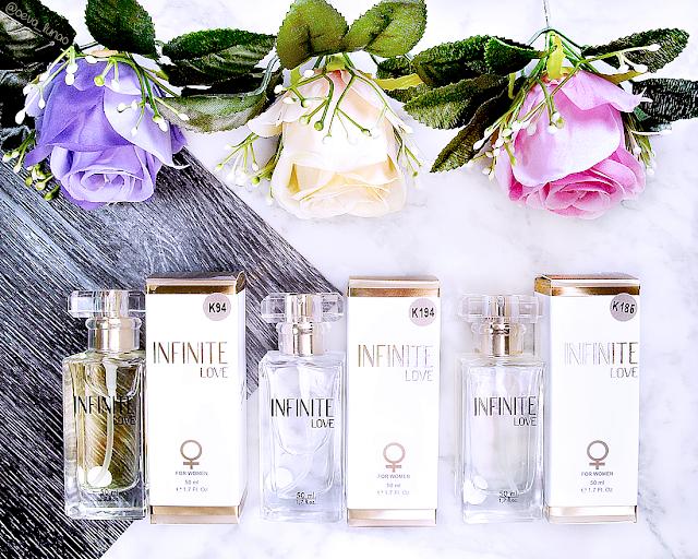Parfumuri Infinite Love K94 - K194 - K185 - review pareri - Giorgio Armani Si - Thierry Mugler Alien - Bvlgari Omnia Crystalline - Christian Dior J'Adore