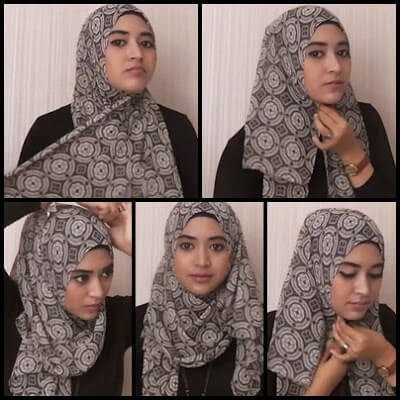 Tutorial hijab pashmina kaos natasha farani terbaru dari video youtube