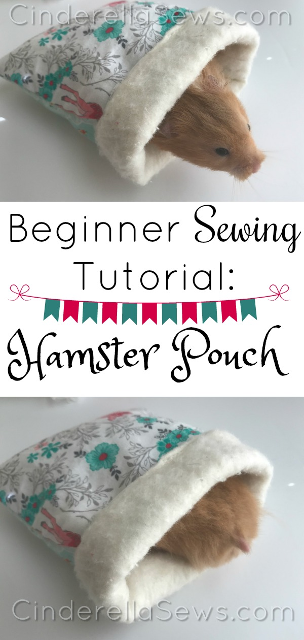 Beginner Sewing Tutorial - Easy Hamster Bed Pouch is a 15 sewing minute project perfect for your fur baby!