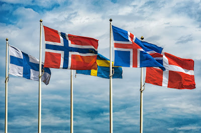 Icelandic and Scandinavian Flags