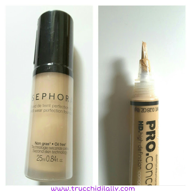 Secon skin Sephora medium 26 e pro conceal la girl Creamy Beige