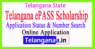 Telangana ePass Scholarship Application Status  Number Search