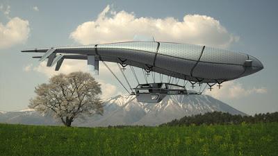 Fantástica casa voladora.