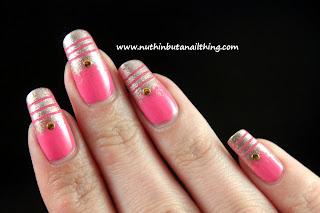 models own champagne pink blush nail art