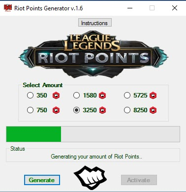League of Legends Riot Points Generator Unlimited Riot Points 22