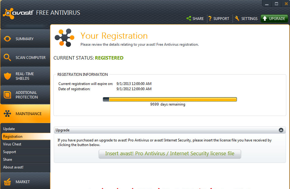 registration key for avast antivirus