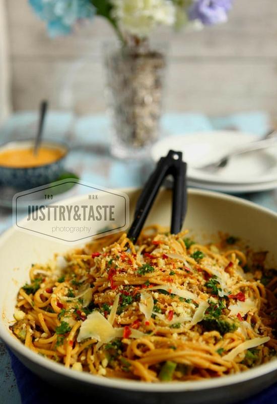 Resep Spaghetti Jamur Saus Telur Asin