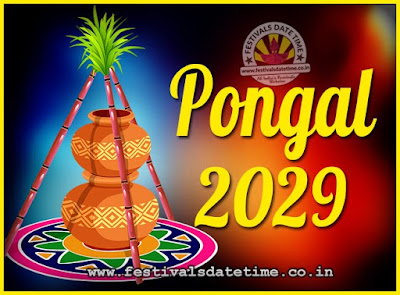 2029 Pongal Festival Date & Time, 2029 Thai Pongal Calendar
