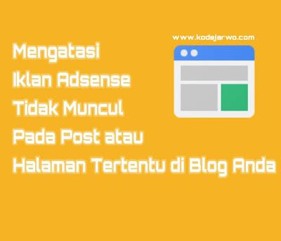 Mengatasi Iklan Adsense Blank di Blog