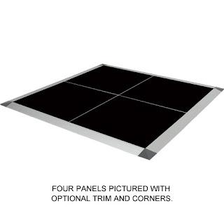 Greatmats portable dance floor 3x3 feet black solid color