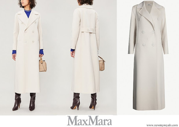 Countess of Wessex wore MAX MARA Custodi double-breasted brushed wool coat