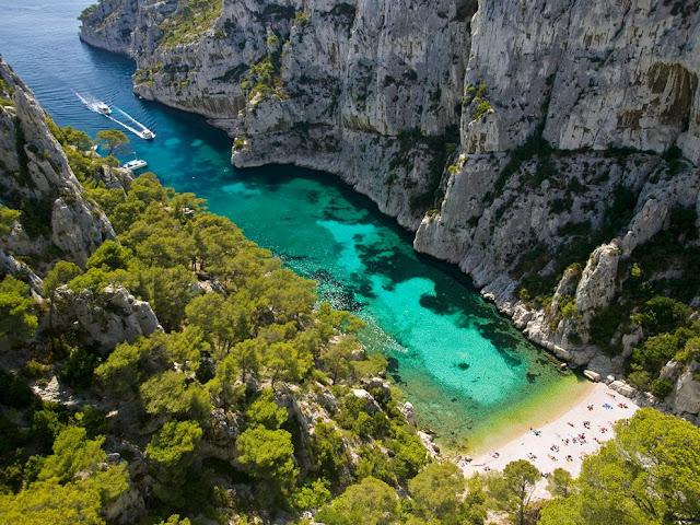 Praia Calanque D'En-Vau na França