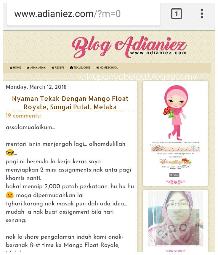 Bila blog kena boom dengan blogger adianiez aida!