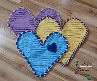 Free Crochet Pattern With All My Heart by Crafting Friends Designs